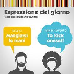 English / Italian Idiom: To kick oneself