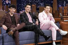 The Jonas Brothers appeared on The Tonight Show Starring Jimmy Fallon. During the show, Kevin admitted his daughter Alena blew the reunion secret. Joe Jonas, Jonas Brothers, Lady Gaga, Going Platinum Blonde, Jessica Williams, Love Puns, Jersey Boys, Tonight Show, Reality Tv Shows