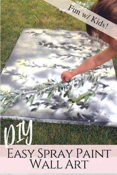 DIY Spray Paint Art - Creative Fashion Blog