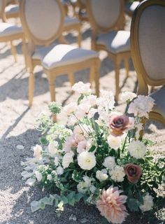Wedding at Chateau de Grand Luce Peony Bouquet Wedding, Blush Wedding Flowers, Wedding Table Flowers, Floral Wedding, Wedding Pastel, Table Flower Arrangements, Wedding Flower Arrangements, Wedding Aisle Decorations, Flower Decorations