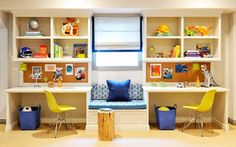 47 Comfy Kids Study Room Design Ideas For Kids Another big issue for kids with ADHD is they often neglect to bring their books home. To help you choose a desk for your child, bear in mind the subsequent questions and answers. Study Table Designs, Study Room Design, Playroom Design, Kids Room Design, Playroom Ideas, Kids Study Table Ideas, Children Study Table, Study Tables, Nursery Design