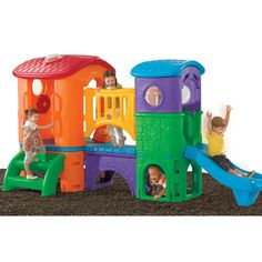 Clubhouse Climber A complete off the ground playhouse with climbing, sliding and hide