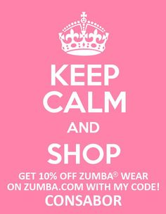 Save an additional 10% using affiliate code: consabor    http://www.zumba.com/user/affiliates/affiliate-shop/?affil=consabor