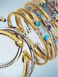 David Yurman bracelets - classic look and they go with EVERY wardrobe ensemble!!!!