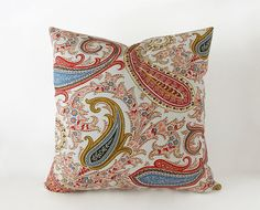 Paisley pillow cover in many sizes, bohemian cushion cover - Ellen's Alley