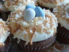 Chocolate coconut robin egg