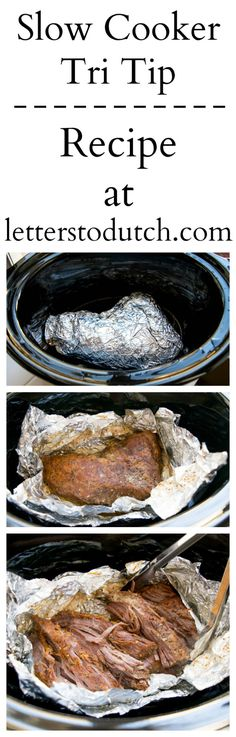 Learn How to Slow Cook Tri-Tip 😋 #slow #cook #slowcooker #tritip #meat #tender #protein #delicious #yummy #recipe #crockpot #juicy #food #tutorial #letterstodutch