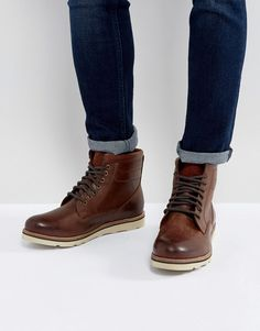 Superdry Stirling Leather Lace Up Boots In Brown Boots Marron 0e3e5f0e9