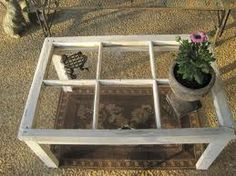 Old window made into a table, Genius!