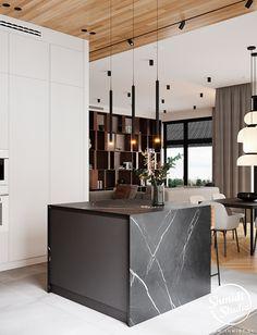 Project Warm | Minsk, Belarus on Behance Modern Luxury Bathroom, Modern Bathroom Design, Modern House Design, Interior Exterior, Luxury Interior, Home Interior Design, Kitchen Design Open, Small Space Kitchen, Condo Kitchen
