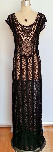 Gorgeous black sheer vintage inspired dress. www.facebook.com/shopmudra