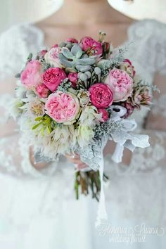 pink bridal bouquet Bridal Bouquet Pink, Wedding Bouquets, Floral Wreath, Wreaths, Home Decor, Decoration Home, Room Decor, Wedding Flowers, Bouquet