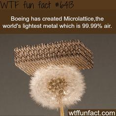Microlattice - WTF fun facts