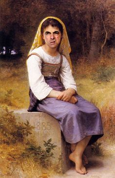 William-Adolphe Bouguereau Painting Reproductions For Sale - Page 2 Famous Portraits, Paintings Famous, Classic Paintings, Oil Paintings, Funny Paintings, Mr Bean Drôle, Mr Bean Funny, Mr Bean Memes, Blackadder