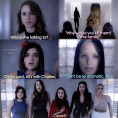 """#PLL 6x10 """"Game Over, Charles"""" Pretty Little Liars Meme, Preety Little Liars, Best Books For Kindergarteners, Pll Memes, Pll Quotes, Pll Logic, Netflix, Kindergarten Books, Grey Anatomy Quotes"""