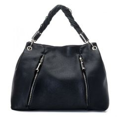Michael Kors Leather Bag | Michael Kors Tonne Pebbled Leather Hobo Bag Black
