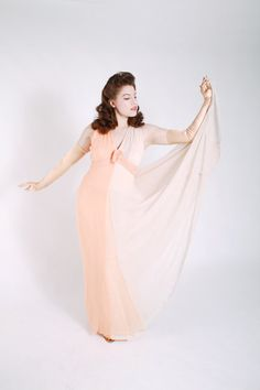 Vintage 1970s Dress // Gorgeous Two Tone 40s Inspired by FabGabs, $145.00