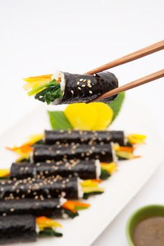 Gimbap Recipe, Healthy Meal Prep, Healthy Recipes, Easy Cooking, Cooking Recipes, Good Food, Yummy Food, Korean Food, Food Design