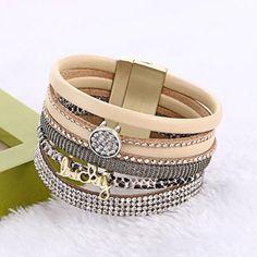 New  Women Leather Bracelets