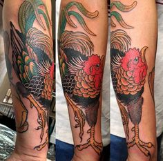 Rooster Tattoo By Al Boy