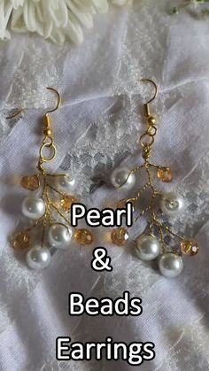 boncuk kolyeler video beads learn how to work a pearl and beads earrings Skull Earrings, Beaded Earrings, Beaded Jewelry, Bead Jewellery, Simple Jewelry, Fine Jewelry, Jewelry Making, Ruby Jewelry, Diamond Jewelry