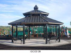Poligon Octagon Steel Park Shelters, Picnic Shelters, Gazebos ...