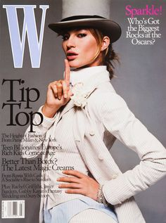 <em>W</em> Magazine's Supermodel Cover Girls - Gisele Bundchen on the cover of W Magazine March 2003