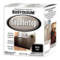 Rust-Oleum Specialty 1-qt. Black Satin Countertop Interior Paint (Case of 2)-263209 - The Home Depot