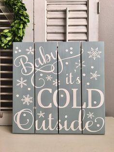 Baby its Cold Outside!!! I can just hear Dean Martin singing this classic Christmas song. This piece deserves a special place in your Christmas Decor this year. A fun reminder of the season and beautiful all dressed in red and white. This piece will add beauty to your mantle, wall,