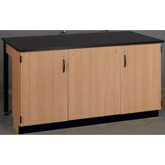 Stevens ID Systems Science Workstation Surface Type: Phenolic, Color: Haze, Frame Finish: Light Oak