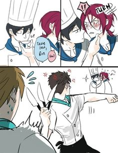 Haruka, Rin, Sosuke and Makoto