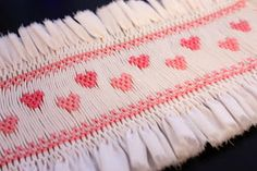 """The """"Tiny Hearts"""" smocking design works up quickly and is perfect for those new to picture smocking. Click here  for the free down loada..."""