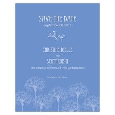Dandelion Wishes Save The Date Card Periwinkle (24)