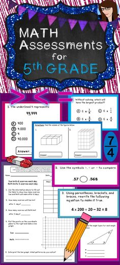 Math Assessments for 5th Grade