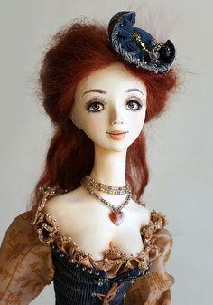 Купить Изабелла. - авторская работа, интерьерная кукла, полимерная глина ладолл (la doll)