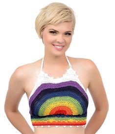 rainbow crochet crop top - Pesquisa Google