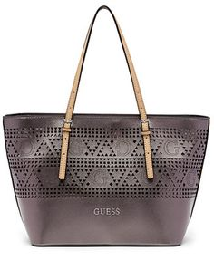 7137527ed5 GUESS Delaney Small Classic Perforated Tote   Reviews - Handbags    Accessories - Macy s