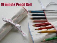 pattern for 10 Minute Pencil Roll sewing project and small tool belt