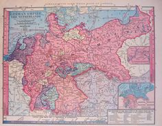 German Empire and The Netherlands, 1885 #map #germany #netherlands