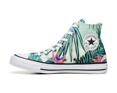 Show your pride with the Converse Chuck Taylor All Star High sneakers.Canvas upper in a lifestyle athletvic high-top sneaker style with a rubber cap toeLace-up front, metal eyeletsLogo detailsDecorative printed designsCanvas lining, cushioning footbedStriped, rubber midsoleRubber traction outsole