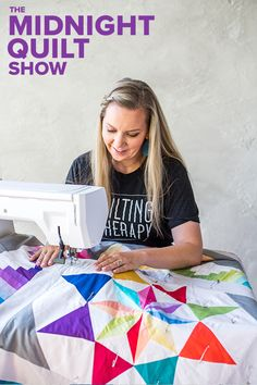 What do you get when you combine a rainbow quilt, a star quilt and a medallion quilt all into one? A fresh episode of the Midnight Quilt Show, of course! Join Angela as she breaks down Y-seams, quilting with templates and beyond. Quilting 101, Machine Quilting Designs, Longarm Quilting, Free Motion Quilting, Quilting Tutorials, Quilting Projects, Quilting Ideas, Rainbow Quilt, Rainbow Star