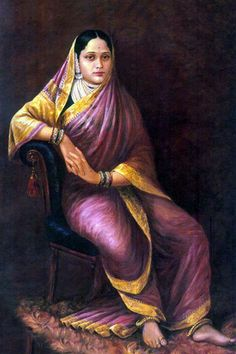 Portrait by Raja Ravi Varma