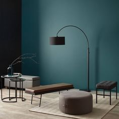 Refresh your home for less. Shop stylish decor & furniture   Bouclair.com Leather Bench Seat, Leather Storage Bench, Wooden Tripod Floor Lamp, Metal Table Lamps, Furniture Sale, Furniture Decor, Bouclair, Texture, Drum Shade