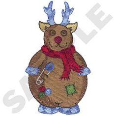Reindeer Embroidery Design | AnnTheGran