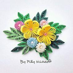 Diseño floral por Pily Núñez www.facebook.com/creaquilling www.instagram.com/pilyquilling:
