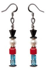Swarovski Elements Toy Soldier Earrings  Get your kit at www.harmanbeads.com