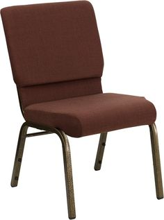 HERCULES Series 18.5''W Royal Fabric Stacking Church Chair with 4.25'' Thick…