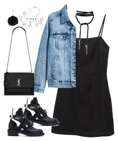 """Sem título #5356"" by fashionnfacts ❤ liked on Polyvore featuring Balenciaga, H&M, Yves Saint Laurent and Topshop"