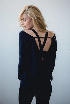 9303da5e65ac91 Women s Yoga Tops Fitness Shirts Sports Long Sleeve Sexy Back T-Shirt