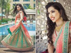 Grand WeddingSutra on Location  Bride-to-be Shrena Hirawat in a summery mint green lehenga from Aza and contemporary Azva jewellery, blogs about her makeover experience here